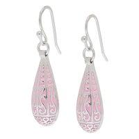 Silver Spectrum Sterling Silver & Enamel Teardrop Earrings