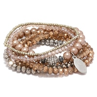 Ali-Khan The Glam & Grace Multi Stretch Bracelets (Set of 7)