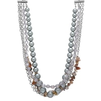 Collier gris bruyère Softly Heather de Ali-Khan