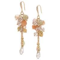 Ali-Khan Spring Bouquet Cluster Drop Earrings