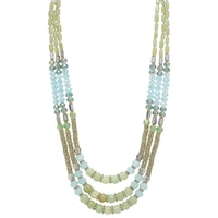 Ali-Khan Spring Tones 3-Row Necklace