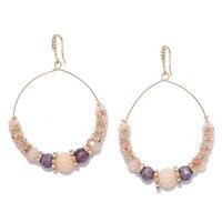 Ali-Khan Spring Tones Hoop Drop Earrings
