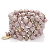 Ali Khan Parisian Pearls Coil Bracelet