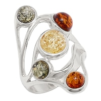 Amber Extraordinaire Sterling Silver Amber Ring