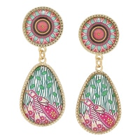 Amrita Sen BollyDoll Birds of Love Hand Art Earrings