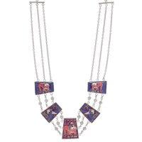 BollyDoll by Amrita Sen Maithili Elephant & Parakeet Hand Art Necklace
