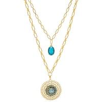 BollyDoll by Amrita Sen Ganesh Good Luck Hand Art Necklace