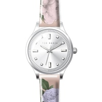 Ted Baker Ladies' Silvertone Floral Strap Watch