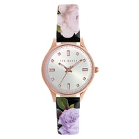 Ted Baker Ladies' Rose Gold Floral Strap Watch