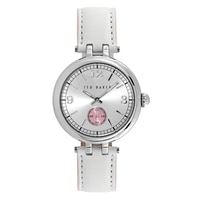 Ted Baker Ladies' White Leather Strap Watch