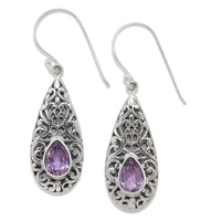 Samuel B. Sterling Silver Pear Shape Gemstone Drop Earrings