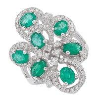 The Vault 18K Emerald & Diamond Ring