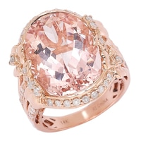 The Vault 14K Rose Gold Morganite & Diamond Ring