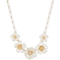 Anne Klein In Full Bloom Frontal Flower Collar Necklace