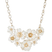 Anne Klein In Full Bloom Drama Flower Collar Necklace