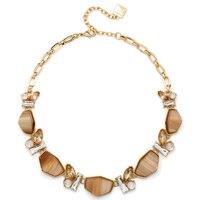 Anne Klein Nature Escape Stone Frontal Collar Necklace