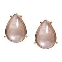 Anne Klein Nature Escape Champagne Button Earrings
