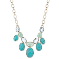 Anne Klein Jewelled Treasures Frontal Drop Necklace