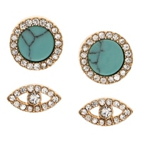 Anne Klein Charm Me Duo Earring Set