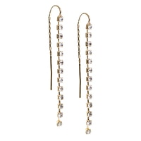 Anne Klein Earmazing Crystal Threader Earrings