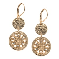 Nine West Speck of Sparkle Coin Drop Earrings