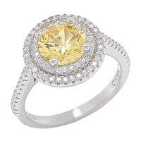 Bague à bordure circulaire ornée de similidiamants Diamonelle®
