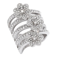 Emma Skye Triple Flower Ring