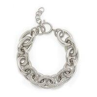 Emma Skye Polished Oval Link Crystal Bracelet