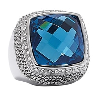 Emma Skye Blue Crystal Gemstone Ring