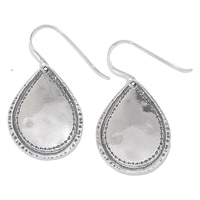 Designs from Nazareth Sterling Silver Oxidized Finish Pear Shape Earrings