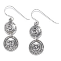 Designs from Nazareth Sterling Silver Oxidized Finish Double Drop Earrings