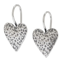 Designs from Nazareth Sterling Silver Oxidized Finish Heart Earrings