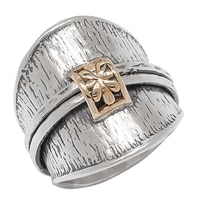 Designs from Nazareth Sterling Silver 14K Yellow Gold Ring