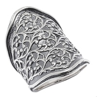 Designs from Nazareth Sterling Silver Oxidized Finish Wide Ring