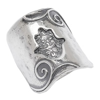 Designs from Nazareth Sterling Silver Oxidized Finish Hamsa Ring