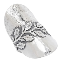 Designs from Nazareth Sterling Silver Oxidized Finish Olive Branch Ring