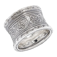 Designs from Nazareth Sterling Silver Oxidized Finish Band
