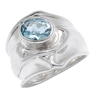 Hagit Jewellery Sterling Silver Blue Topaz Ring