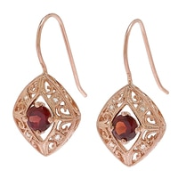 Generations 1912 Sterling Silver Rhodolite Garnet & White Sapphire Earrings