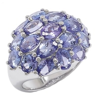 Sterling Silver Tanzanite Dome Ring