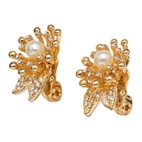Anne Klein Into The Garden Clip Earrings