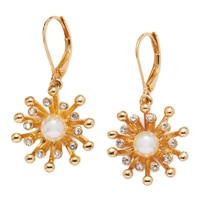 Anne Klein Into The Garden Drop Earrings