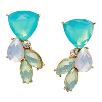 Anne Klein St. Barths Cluster Post Earrings