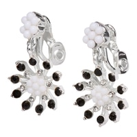 Napier Wildflower Double Drop Clip Earrings