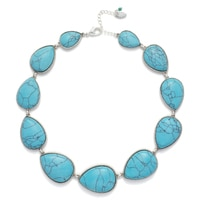 Nine West Turquiose & Caicos Stone Collar Necklace