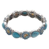 Nine West Turquiose & Caicos Flex Stone Bracelet