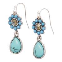 Nine West Turquiose & Caicos Drop Earrings
