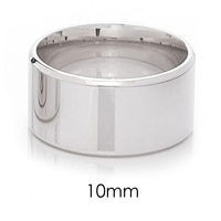 Silver Spectrum Sterling Silver Rhodium Plate Flat Bevel Band