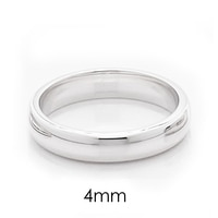 Silver Spectrum Sterling Silver Rhodium Plate Classic Wedding Band