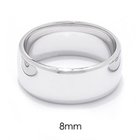Silver Spectrum Sterling Silver Rhodium Plated Barrel Band